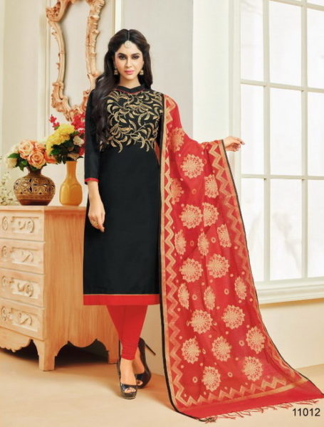 KASMEERA QUEEN VOL 1 CHANDERI SILK DRESS MATERIALS WITH BANARASI DUPPATTA WHOLESALE RATE @ RS 699