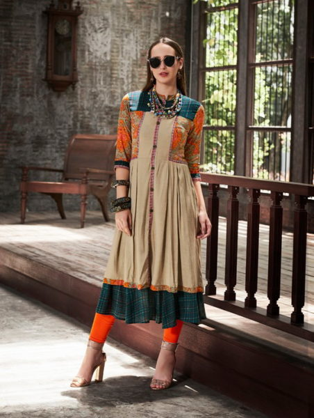 RANGOON COVER STORY REYON WESTERN GOWN STYLE DESIGNER KURTI WHOLESALE @ RS 790