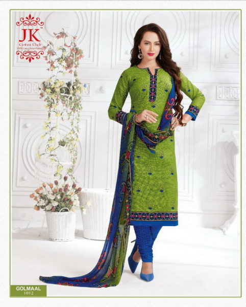 JK GOLMAAL VOL 1 COTTON PRINTED UNSTICHED DRESS MATERIALS SALWAR KAMEEZ WHOLESALE