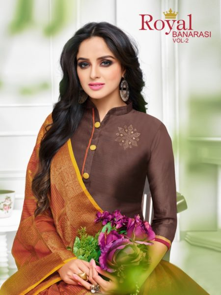 KAPIL TRENDZ ROYAL BANARASI VOL 2 WORK COLLECTION OF DRESS MATERIALS @ RS 699