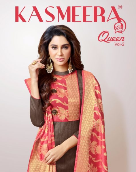 KASMEERA QUEEN VOL 2 CHANDERI SILK DRESS MATERIALS WITH BANARASI DUPPATTA WHOLESALE RATE @ RS 699
