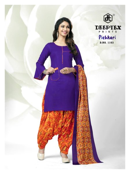 READY MADE DEEPTEX PICHKARI PATIYALA SALWAR SUIT MANUFACTURER @ RS 435