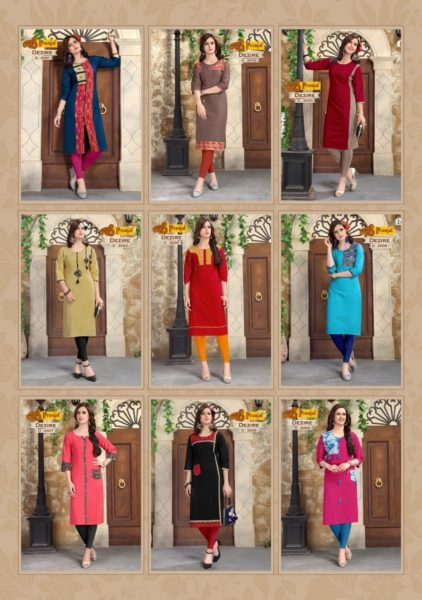 PRANJAL KURTI  DEZIRE VOL 3 COTTON FANCY COLLECTION OF KURTIS @ RS 290