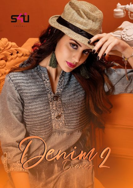 S4u Denim Dairies Vol 2 Designer Stylish Denim Fancy Kurti Wholesale Rs 820 – Sakhi Textiles Kurtis Salwarsuits Manufacturer Wholesale Exporters