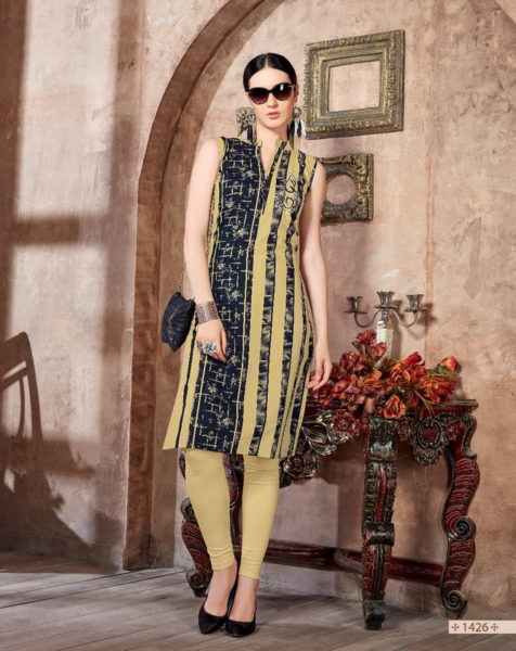 TIC TAC BY GLAMOUR COTTON PRINT FORMAL KURTIS MANUFACTURER @ RS 300