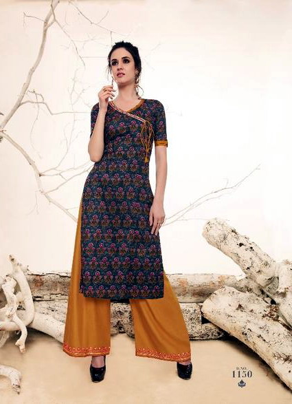 VICTORIA-Cotton-fabric-printed-kurtis-with-rayon-embroidery-work-plazzo-bottom-set
