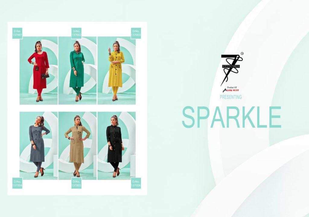7 Stiches Sparkle Kurtis online Kurtis Wholesaler Manufacturer