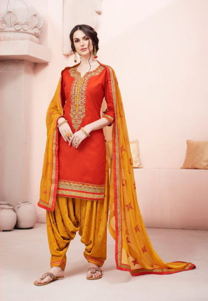 KESSI FABRICS BRIDAL BY PATIYALA HOUSE JAM SILK PUNJABI SUITS
