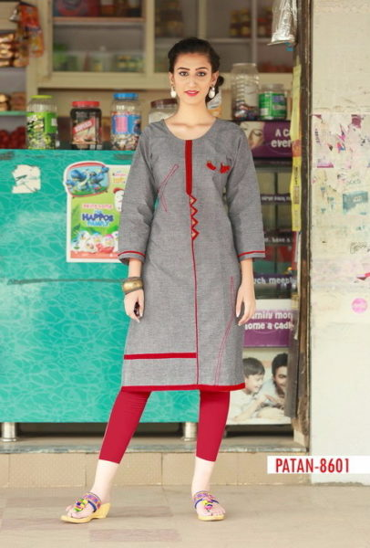PATAN OFFICE WEAR COTTON KURTIS WHOLESALE MANUFACTURER