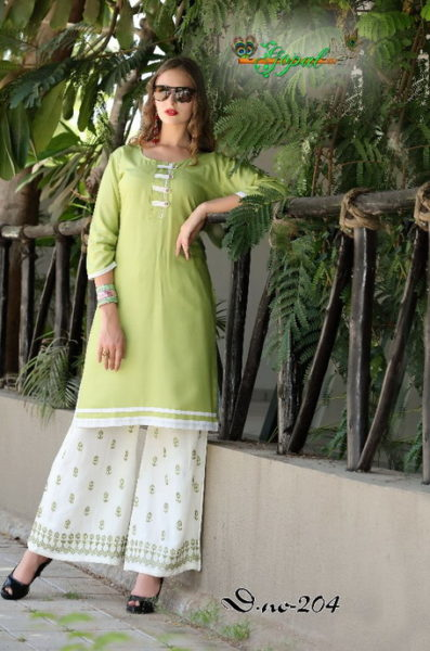 RAYON KURTA WITH RAYON WORK PLAZO SET WHOLESALER