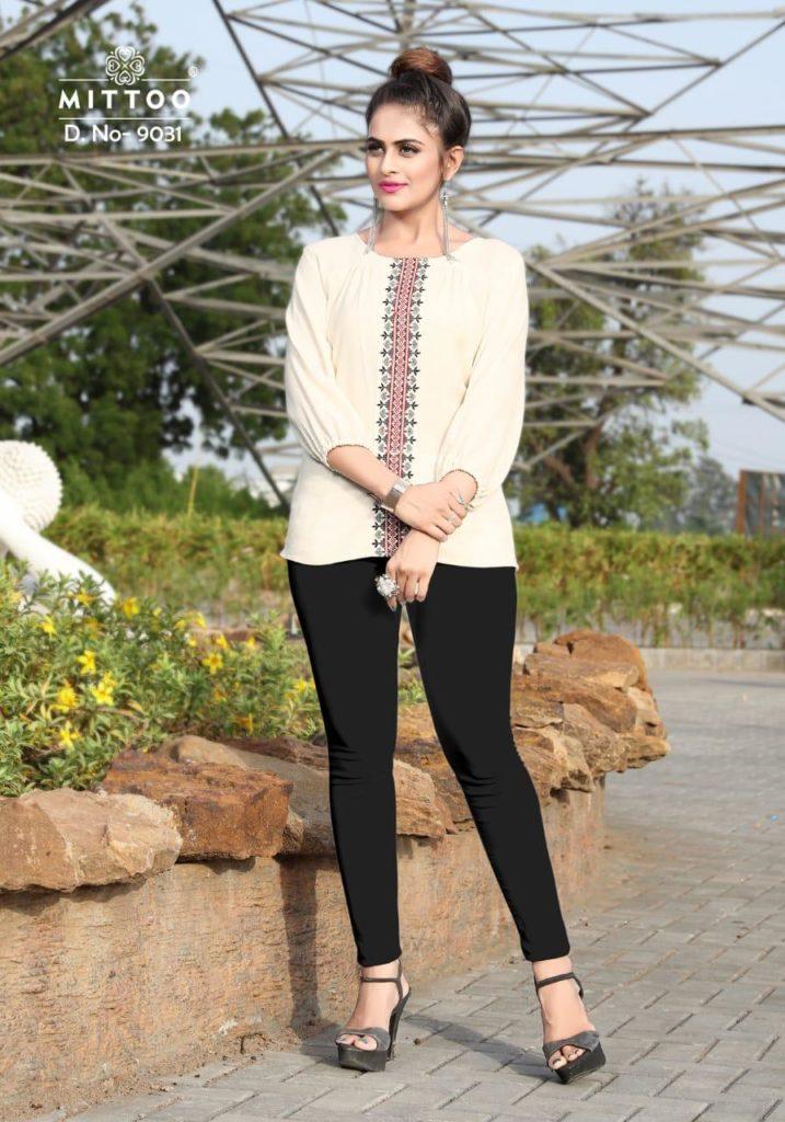 Mittoo Poorva Vol 4 Designer Tops Kurtis Wholesale online