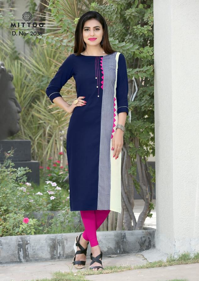 Mittoo Priyal Vol 5 Ethnic Cotton Kurtis online wholesalers