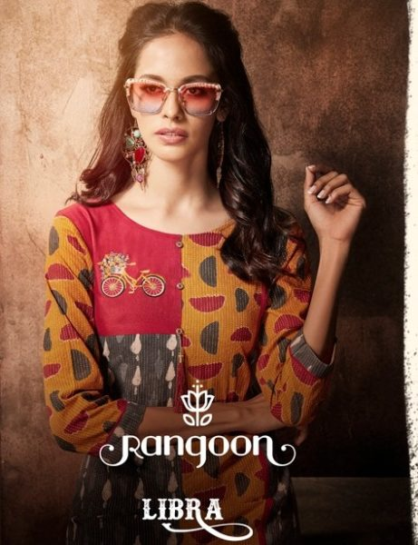 RANGOON LIBRA Rayon Cotton Straight Kurtis wholesale supplier