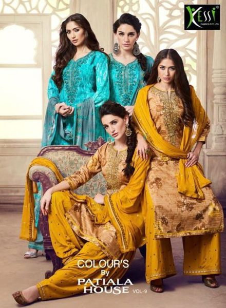 colours by patiala vol 9 by kessi patiala suits wholesalers