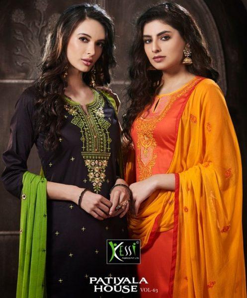 kessi fabrics  patiala house vol 63 Dress Materials wholesaler exporter