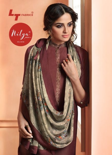 LT NITYA NX vol 30 maslin silk top with dupatta collection wholesale dealer