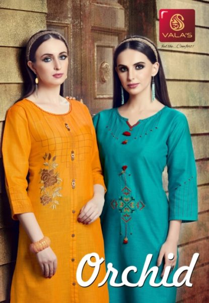 valas presents orchid plane kurti with fancy work kurtis wholesaler