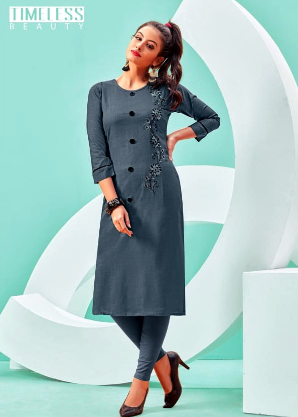 7 Stiches Sparkle Kurtis catalog wholesale