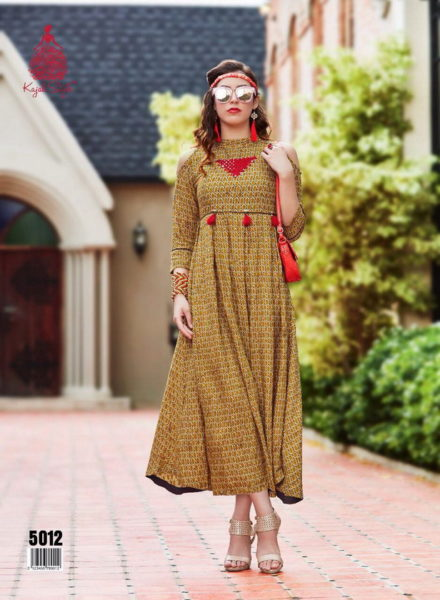 Kajal style Dairy Milk vol 5 Fancy Kurtis Catalog Wholesaler