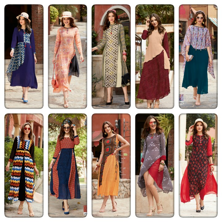 Kalaj style Blossom vol 2 Designer Kurtis Catalogs Wholesale