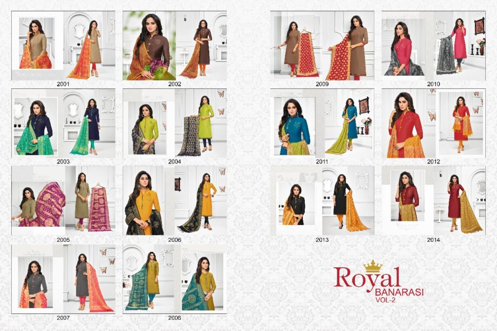 Kapil Trendz Royal Banarasi Vol 2 Fancy Dress Materials Wholesale @ RS 699