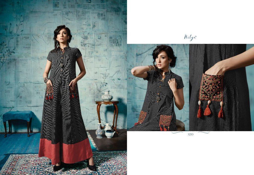 Lt nitya vol 32 nx exclusive party wear fancy long kurtis supplier