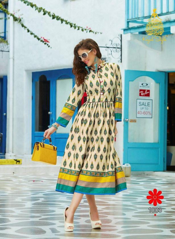 Monza vol 1 Kajal style Frock style Designer Kurtis Wholesaler