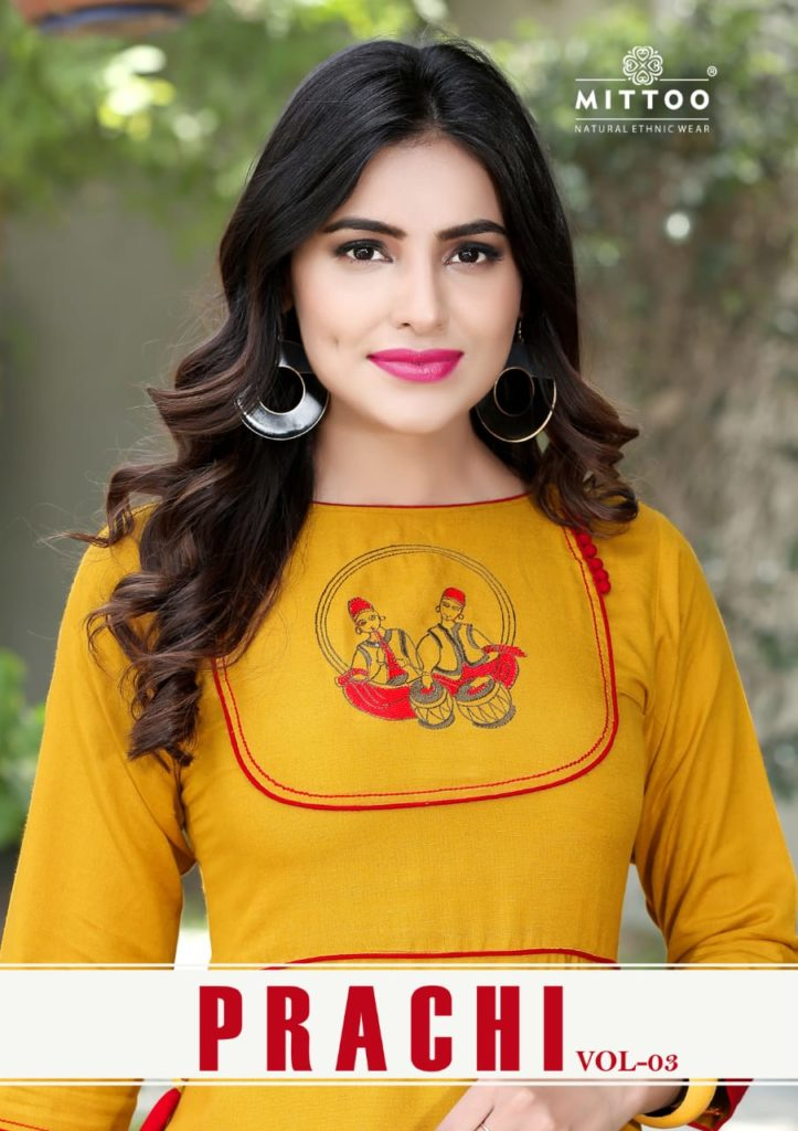 prachi vol 3 mittoo kurti reyon fancy kurti at wholesale price