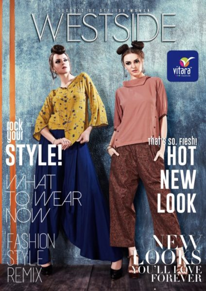 Vitara fashion westside stylish top with bottom style kurti concept
