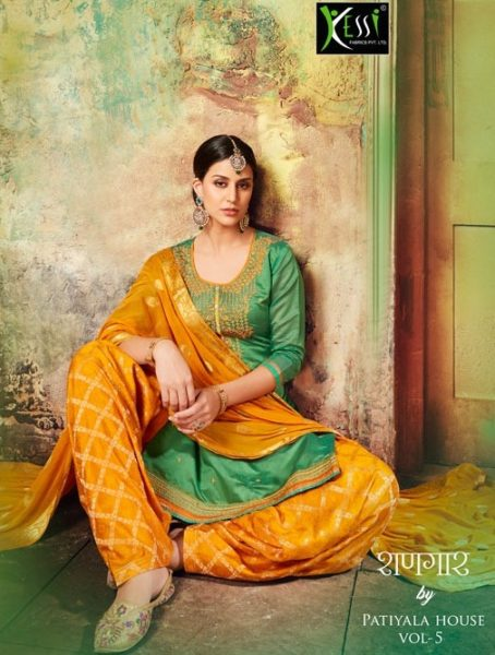 shangar by patiala vol 5 by kessi fabrics chanderi salwar kameez wholesale