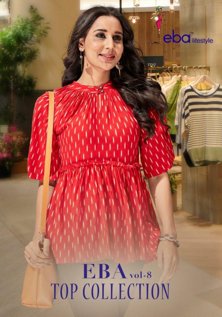 Eba Lifestyle vol 8 cotton top Kurtis wholesale supplier