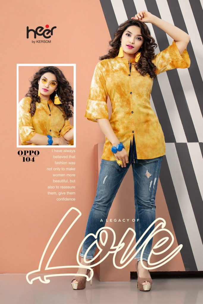 Heer oppo short Top Kurtis Wholesale supplier