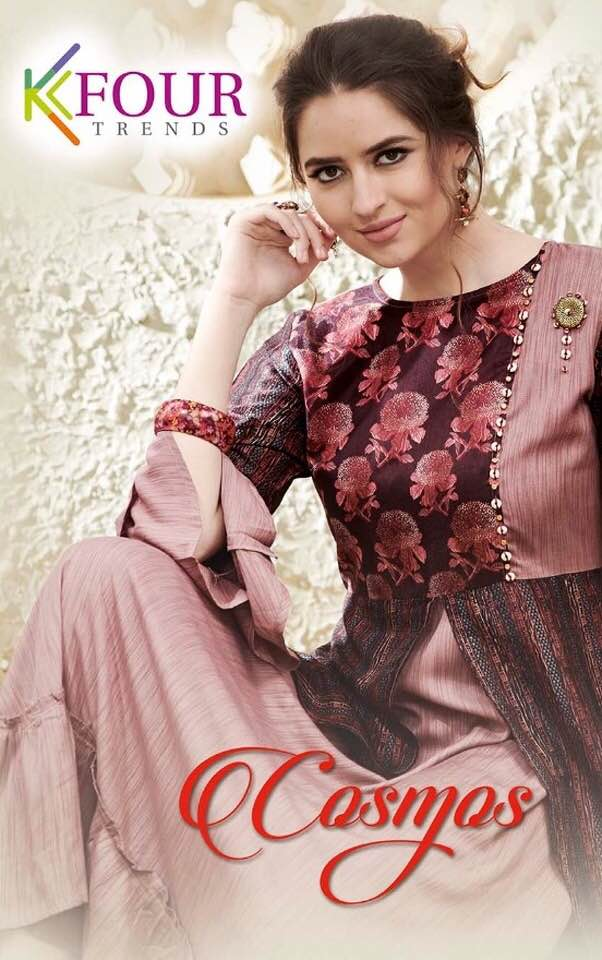 K4 Cosmos Designer Gown Rayon Kurtis Wholesale