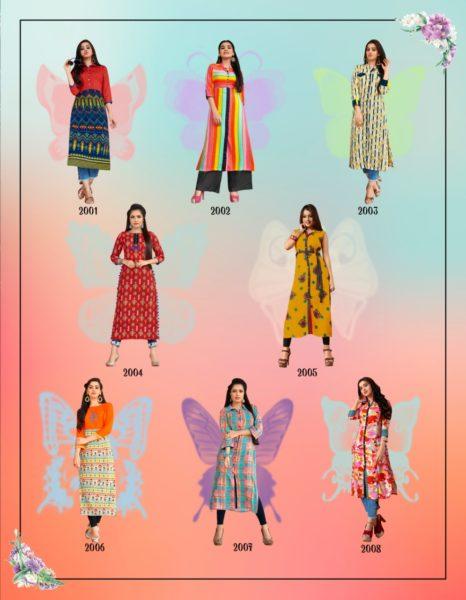 Kajal Style Fashion Eternal Vol 2 Kurtis Wholesale Manufacturer
