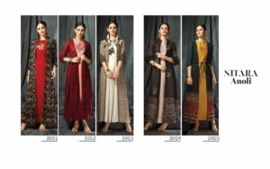 Nitara Anoli Georgette jacket pattern long Kurtis wholesaler @ RS 1195