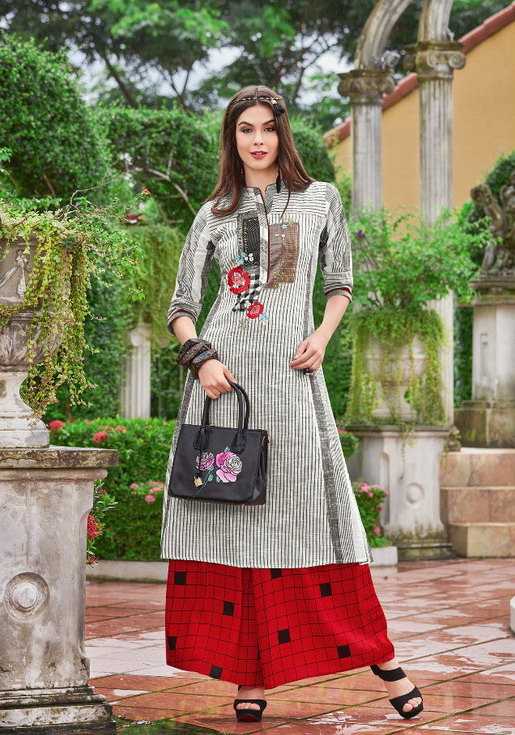 Palazzo with Designer Kurtis by Gopal Tex Kurtis wholesale