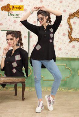Pranjul Desire Vol 4 Rayon Kurtis Tops Wholesale online