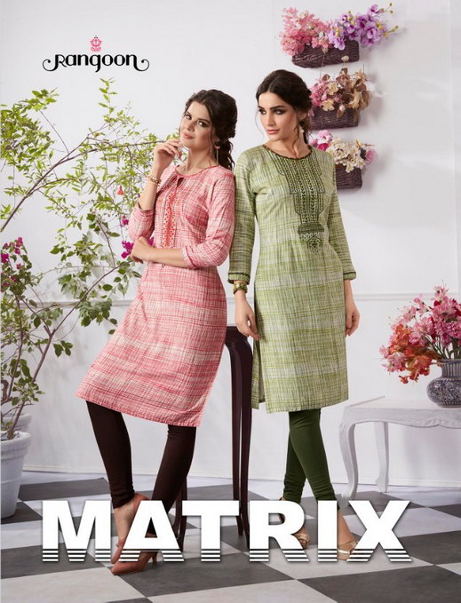 Rangoon Matrix heavy reyon designer Kurtis wholesale @ RS 399