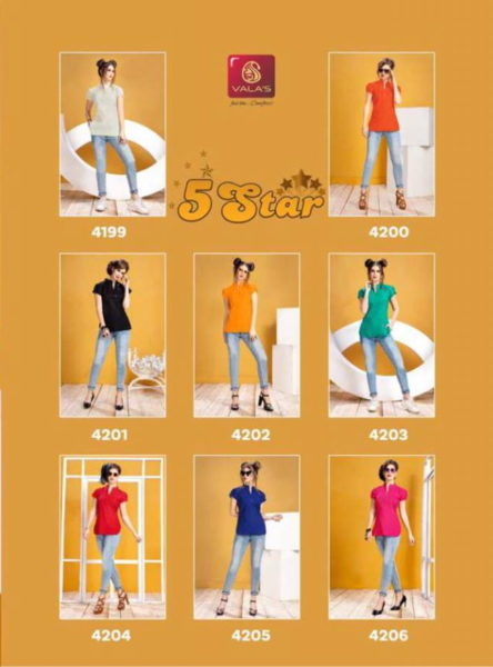 Valas 5 Star cotton short top Kurtis Manufacturer Wholesale