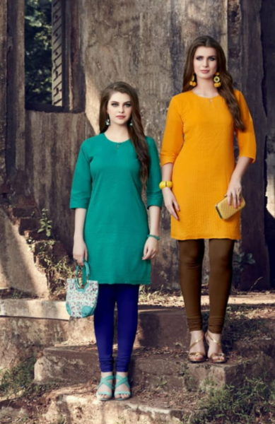 Valas 7 Star plain Cotton Kurtis Manufacturer Wholesaler