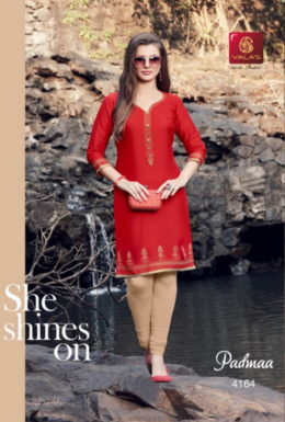 Valas Padma Cotton satin Kurtis wholesaler Manufacturer