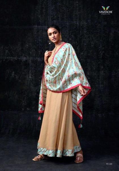 Vasanche Silken Designer Silk Gowns Kurtis Wholesaler