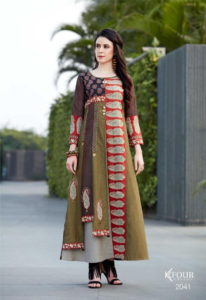 K4 Khwaish Party wear Gown with Handwork Kurtis wholesaler