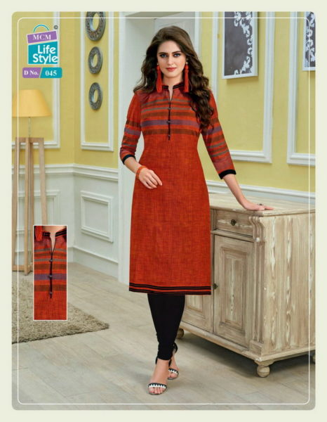 MCM Lovely vol 2 Formal cotton low range Kurtis wholesale Manufacturer