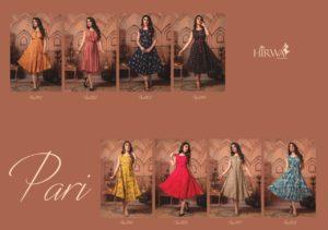 Pari by Hirwa Frock style rayon printed Kurtis Wholesaler