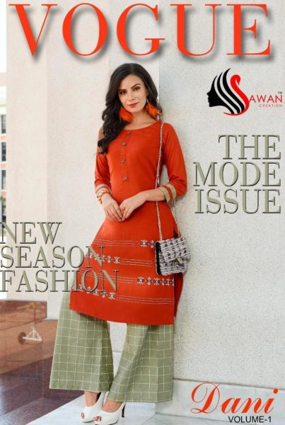 Sawan Dani vol 1 Kurtis with Plazzo catalog wholesale manufacturer