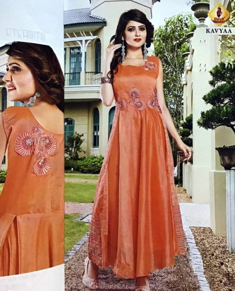 Shruti Angel Designer Silk Gown Kurtis Wholesaler