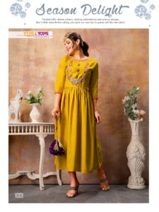 Tips tops Naaz rayon fancy Kurtis wholesaler manufacturer @ RS 545