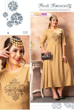 Tips tops Naaz rayon fancy Kurtis wholesaler manufacturer