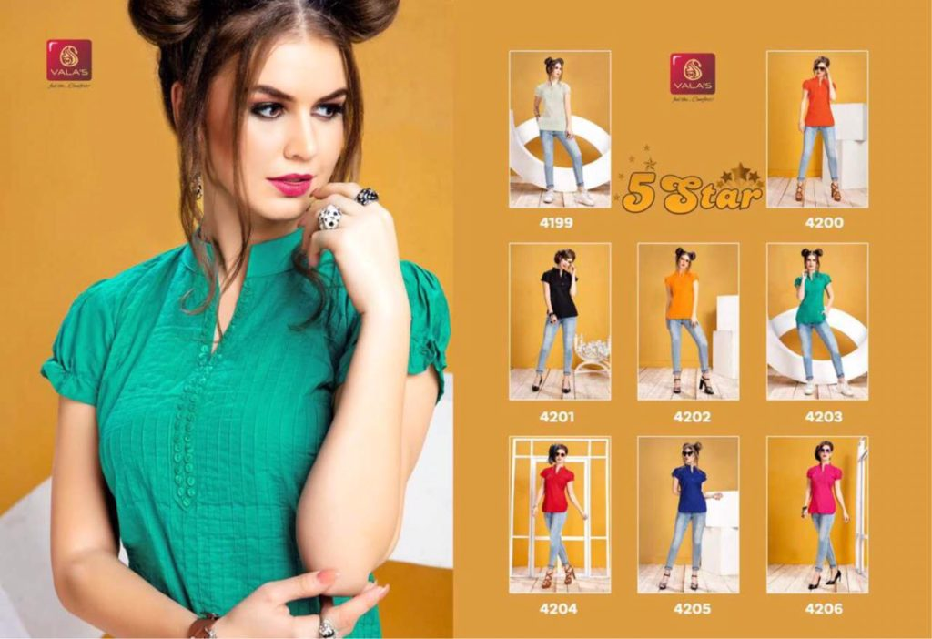 Valas 5 Star cotton short top Kurtis Manufacturer Wholesale @ RS 275